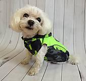 Pre zvieratká - Lená vesta CAMO GREEN - 9473529_