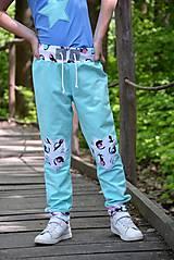 Detské oblečenie - Cool nohavice mint cats - 9470954_