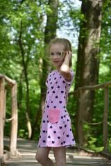 Detské oblečenie - Úpletové dievčenské šaty Cora s vreckami - 9471653_