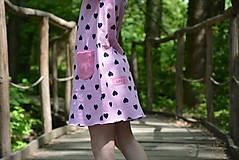 Detské oblečenie - Úpletové dievčenské šaty Cora s vreckami - 9471660_