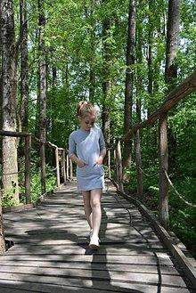 Detské oblečenie - Carina šaty sivé - 9471829_