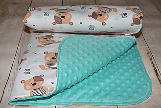 Textil - Minky deka *medvedík* - 9473763_