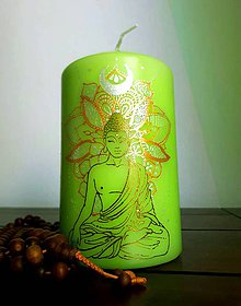 Svietidlá a sviečky - Budha - 9472330_
