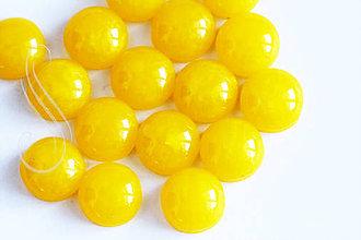 Komponenty - kabošony MARBLE - 12mm/2ks (Žltá) - 9471138_