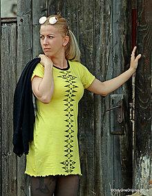 Šaty - Dámske šaty mini, šité, maľované, etno LESSIEN - 9471231_