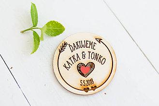 Darčeky pre svadobčanov - Spomienkový  DARČEK pre svadobčanov - 9470628_