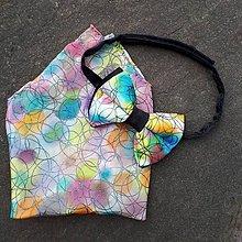 Doplnky - Nežný pohľad-hodvábny maľovaný motýlik a vreckovka. - 9473901_