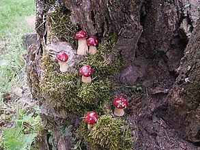 Dekorácie - Hlinené mini muchotrávky - 9473539_
