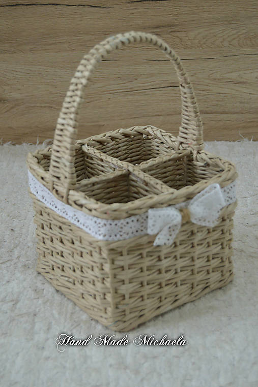 91af068a2 Košíček na príbory / HandMadeMichaela - SAShE.sk - Handmade Košíky