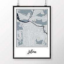 Grafika - ŽILINA, klasická, svetlomodrá - 9471479_