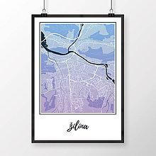 Grafika - ŽILINA, klasická, modro-fialová - 9471502_