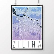 Grafika - ŽILINA, moderná, modro-fialová - 9471505_