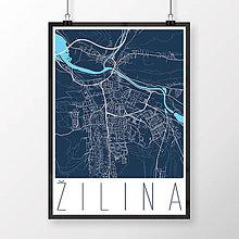 Grafika - ŽILINA, moderná, tmavomodrá - 9471534_