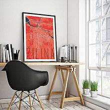Grafika - ŽILINA, elegantná, červená - 9471536_