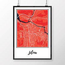 Grafika - ŽILINA, klasická, červená - 9471555_