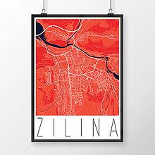 Grafika - ŽILINA, moderná, červená - 9471560_
