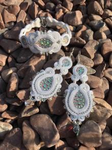 Náušnice - Svadobná sada šperkov KATRIN - 9472055_