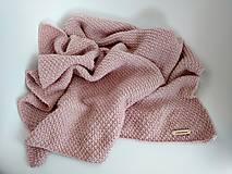 Textil - Háčkovaná deka púdrová - 9473681_