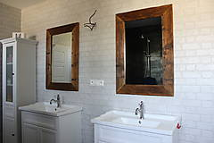 Zrkadlá - Zrkadlo so starého dreva - 9470685_
