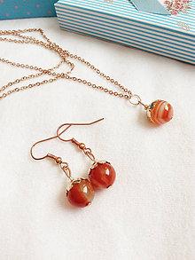 Sady šperkov - Karneolový set - 9472812_