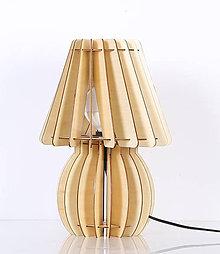 Svietidlá a sviečky - Originálne stolové drevené svietidlo z kolekcie iWood – VAZE - 9473131_