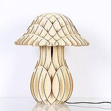 Svietidlá a sviečky - Originálne stolové drevené svietidlo z kolekcie iWood – MUSHROOM - 9473150_