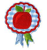 Galantéria - Nažehľovačka jabĺčko 6,8 x 5,5 cm - 9472133_