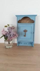 Krabičky - Skrinka na kľúče - modrá - 9473803_