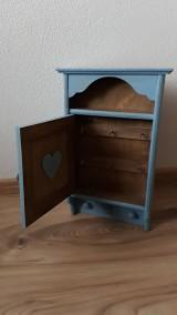 Krabičky - Skrinka na kľúče - modrá - 9473817_