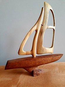 Socha - Drevená loďka-cesta do fantázie - 9472594_