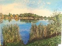 Obrazy - krajinka - olejomaľba 100x80 cm - 9470782_
