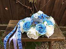 Svadobná parta Folk modrá