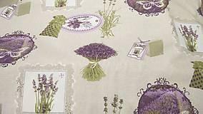 Textil - Levanduľa na režnom podklade š.160 - 9471574_