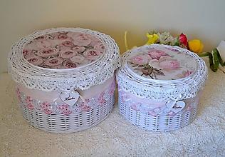 Košíky - Okrúhle boxy HANKA / sada - 9470912_
