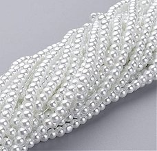 Korálky - Voskované perličky 4mm, 100 ks - 9473408_