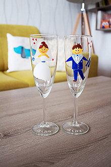 Nádoby - Svadobné poháre - ľudový motív - 9476360_