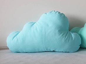 Textil - Vankúš obláčik (Modrá) - 9476710_