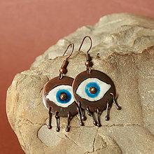 Náušnice - oko - 9475628_
