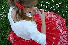 - Detská sukienka Bordúra Folk so spodničkou - 9474307_
