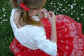 Detské oblečenie - Detská sukienka Bordúra Folk so spodničkou - 9474307_