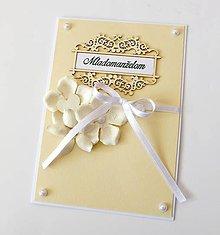 Papiernictvo - pohľadnica svadobná - 9474467_