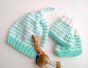 Detské čiapky - Čiapočka s papučkami - 9475839_