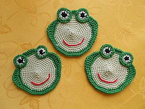 Úžitkový textil - Podložka pod šálku - žabka - 9475752_