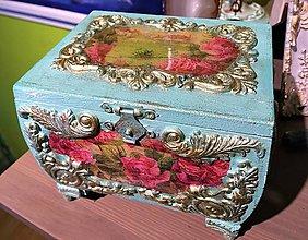 Krabičky - Drevená šperkovnica - 9475859_
