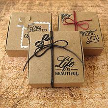 Krabičky - Krabička kraft - 9475429_