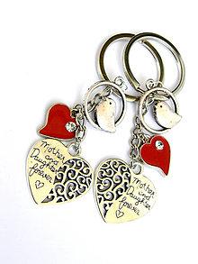 Kľúčenky - den matiek - mama & dcera navzdy - 9476513_