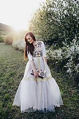 Šaty - Tylové vyšívané šaty Slavianka - 9474663_
