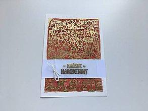 Papiernictvo - Zlatá narodeninová pohľadnica - 9475195_