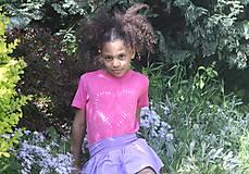 Tričká - Ružové batikované detské srdiečko - 9476715_