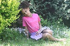 Tričká - Ružové batikované detské srdiečko - 9476717_